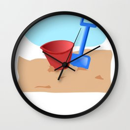 Beach Can You Dig It Building Sand Castles Shirt Wall Clock