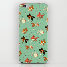 Goldfish Pattern iPhone Skin