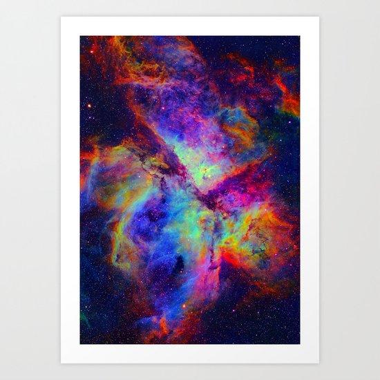 Nova Nebula Art Print