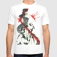 Alexander McQueen Mens Fitted Tee White MEDIUM