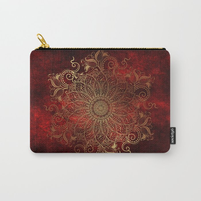 Golden Mandala Carry-All Pouch