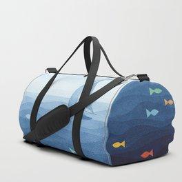 Coloured fish say hooray Duffle Bag
