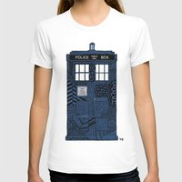 tardis T-shirts featuring Tardis by Rebecca Bear
