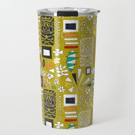 tiki yellow Travel Mug