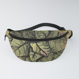Rustic Tropical Plants // Green and Purple Plants  Fanny Pack