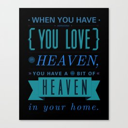 Someone In Heaven-PINK Canvas Print