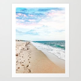 A Walk On The Beach #nature #travel Art Print