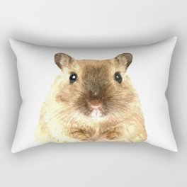 Hamster Portrait Rectangular Pillow