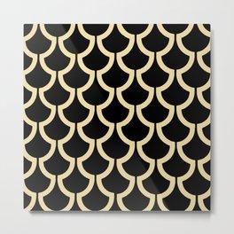 MODERN SCALES GEOMETRIC | black beige Metal Print