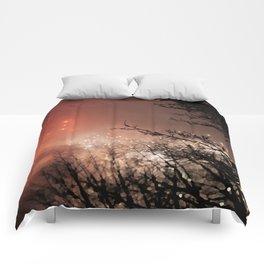 Glowing sky Comforters