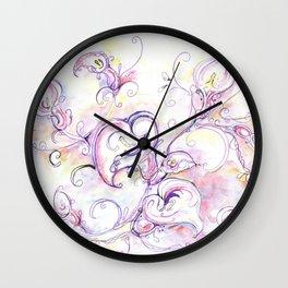 Purple calla lilies Wall Clock