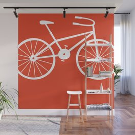 Red Bike by Friztin Wall Mural