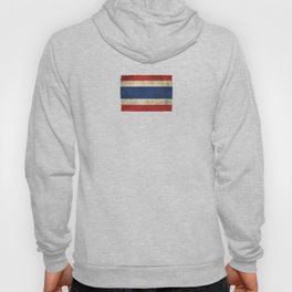Old and Worn Distressed Vintage Flag of Thailand Hoody
