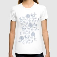 Shire Toile White X-LARGE Womens Fitted Tee