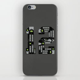 Seattle 12th Man - Black iPhone Skin