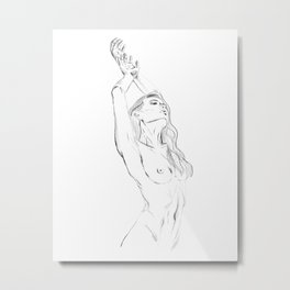 embrace your body - nude girl portrait Metal Print