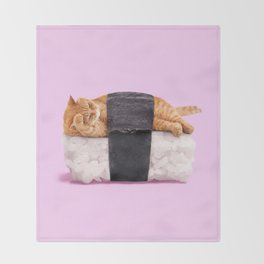 SUSHICAT Throw Blanket