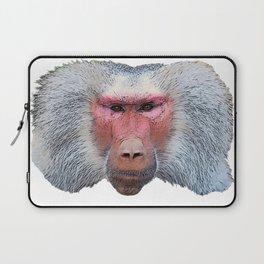 Hhamadryas Baboon Angry Demanding Commander Face Mammal Laptop Sleeve