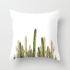 cactus invasion!!! Throw Pillow