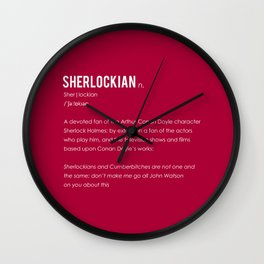 Sherlockian Wall Clock