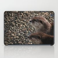 otters iPad Cases featuring Pair of Otters by Eleven Collective