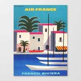 Vintage poster - French Riviera Canvas Print