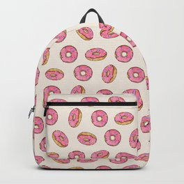 Strawberry Donuts on Cream Backpack