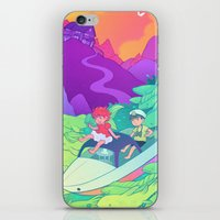 ponyo iPhone & iPod Skins featuring Ponyo by Jen Bartel