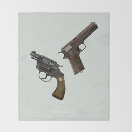 Bonnie and Clyde - Alternative Movie Poster Throw Blanket