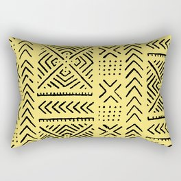 Line Mud Cloth // Yellow Rectangular Pillow