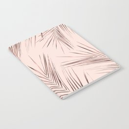 Rose Gold Pink Palm Leaves on Blush Notebook
