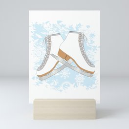 Ice skates Mini Art Print