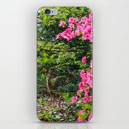Deer Loves Azaleas iPhone Skin