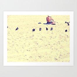 Summer Lady Art Print