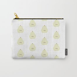 Pear Slice Print and Pattern Carry-All Pouch