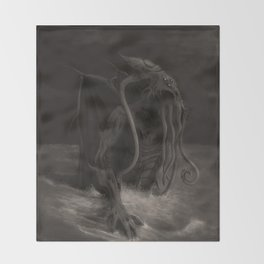 Cthulhu Rises Throw Blanket