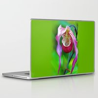 orchid Laptop & iPad Skins featuring Orchid by Trevor Jolley