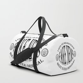 Fake News badge (black on white) Duffle Bag
