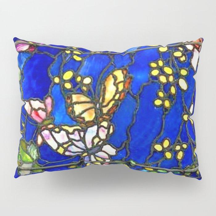 "John La Farge ""Butterflies and Foliage"" window. 1889 (2.) Pillow Sham"