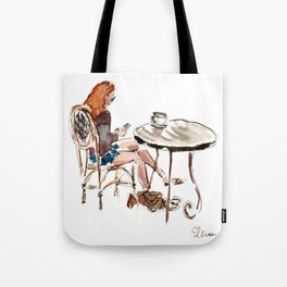 Coffee in Rice Village Tote Bag