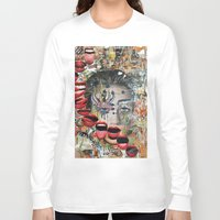 lip Long Sleeve T-shirts featuring Lip Service by Katy Hirschfeld