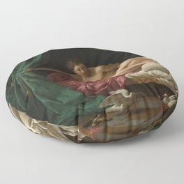 Louis-Jean-Francois Lagrenee's Mars and Venus Allegory of Peace Floor Pillow