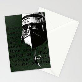 Trapeze boat Stationery Cards