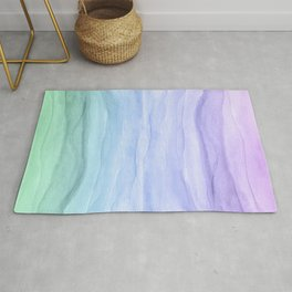 Layers Blue Ombre - Watercolor Abstract Rug