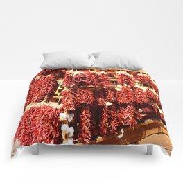 Red Chili Ristra And Gralic Comforters