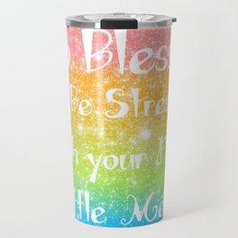 Too Blessed to Be Stressed Pastel Rainbow Series #1 Travel Mug