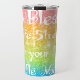Too Blessed to Be Stressed Pastel Rainbow Series #1 Travel Mug