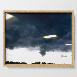 Office Lights in the sky Serving Tray