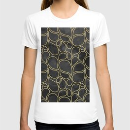BLACK AND GOLD DROPS MARBLE T-shirt