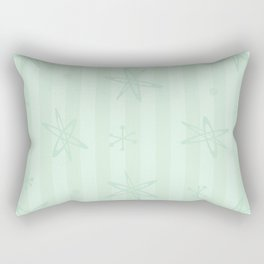 Mid Century Modern Pale Green Rectangular Pillow
